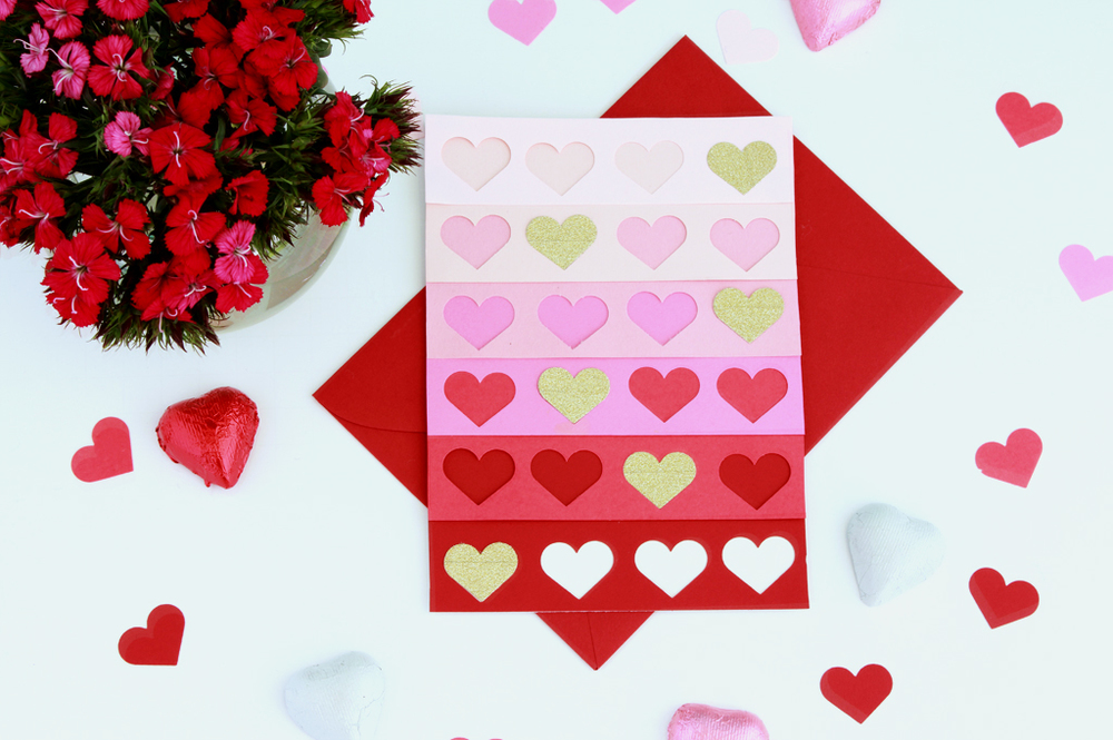 DIY Ombre Heart Valentine