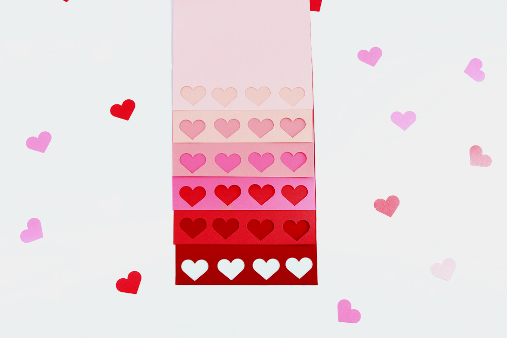 DIY Ombre Heart Stamped Valentine