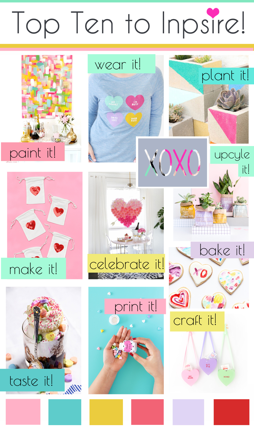 Top Ten DIY Projects to Inspire: Valentine's Day Weekend