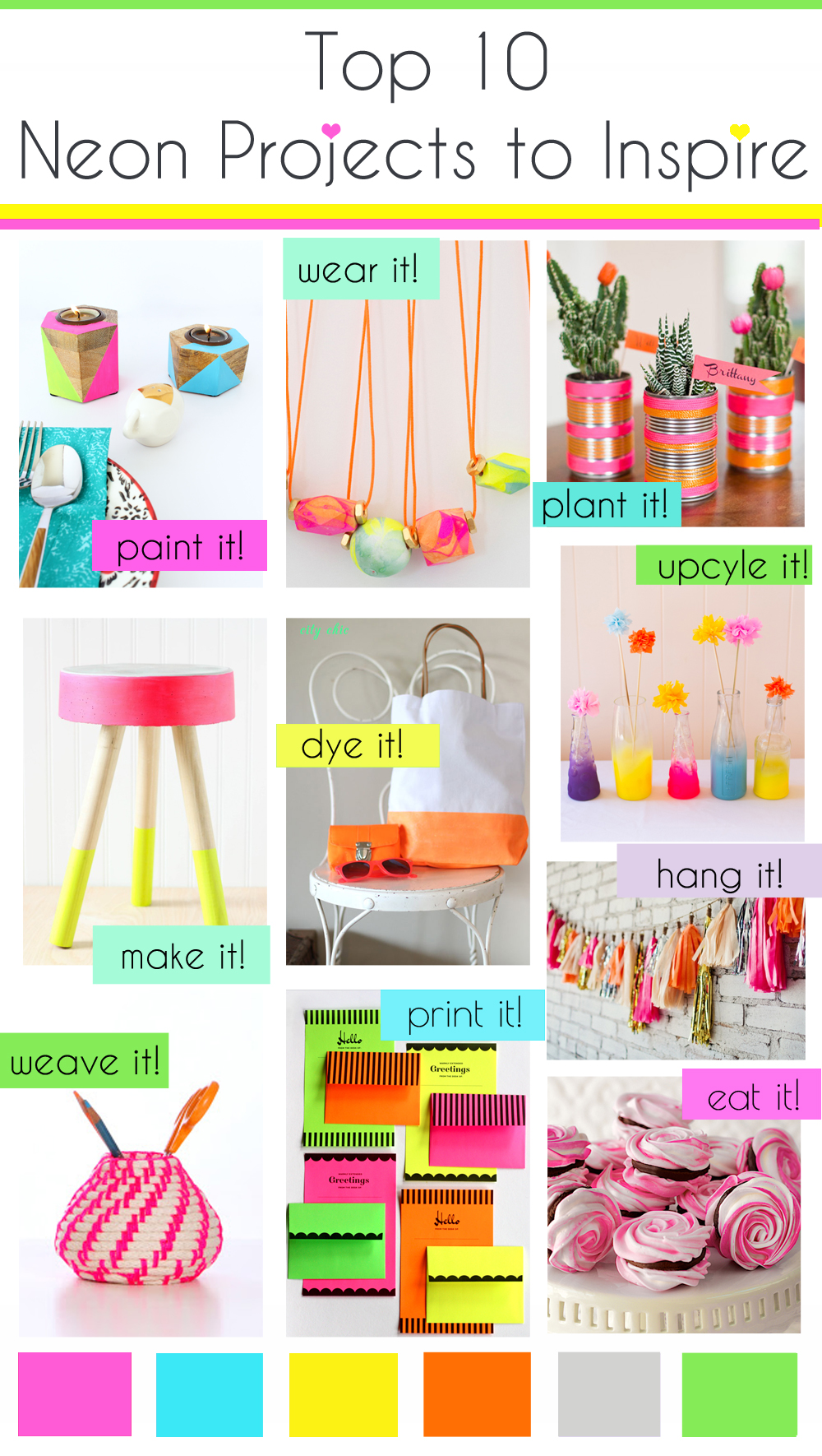 Top 10 Neon Inspired DIY Projects
