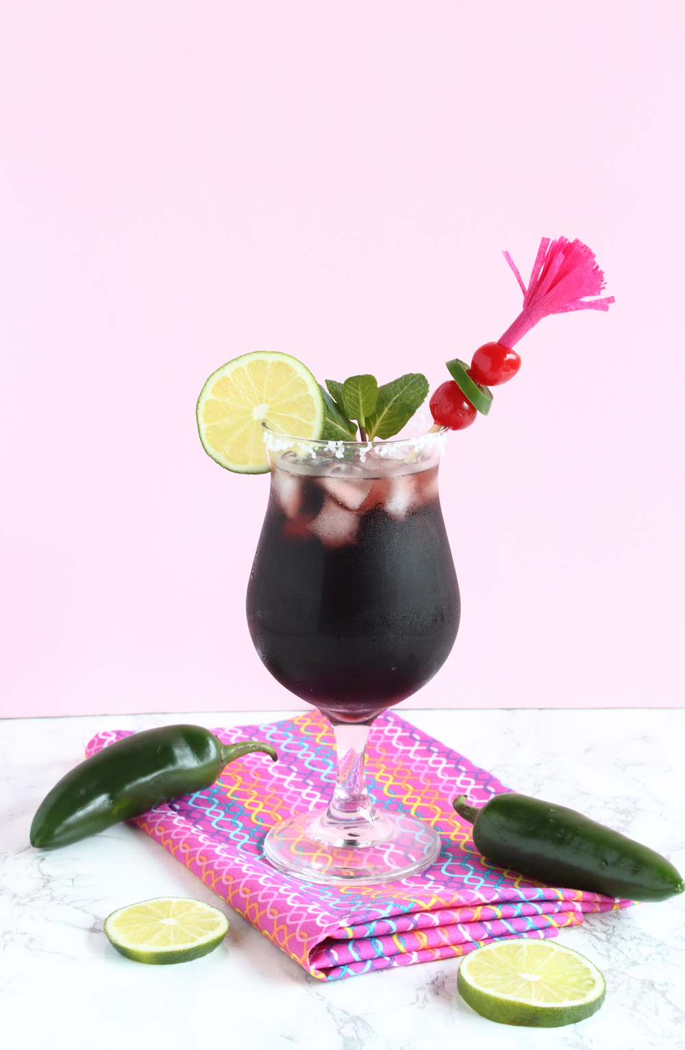 DIY Fringe Stirrers and Spicy Black Berry Margaritas