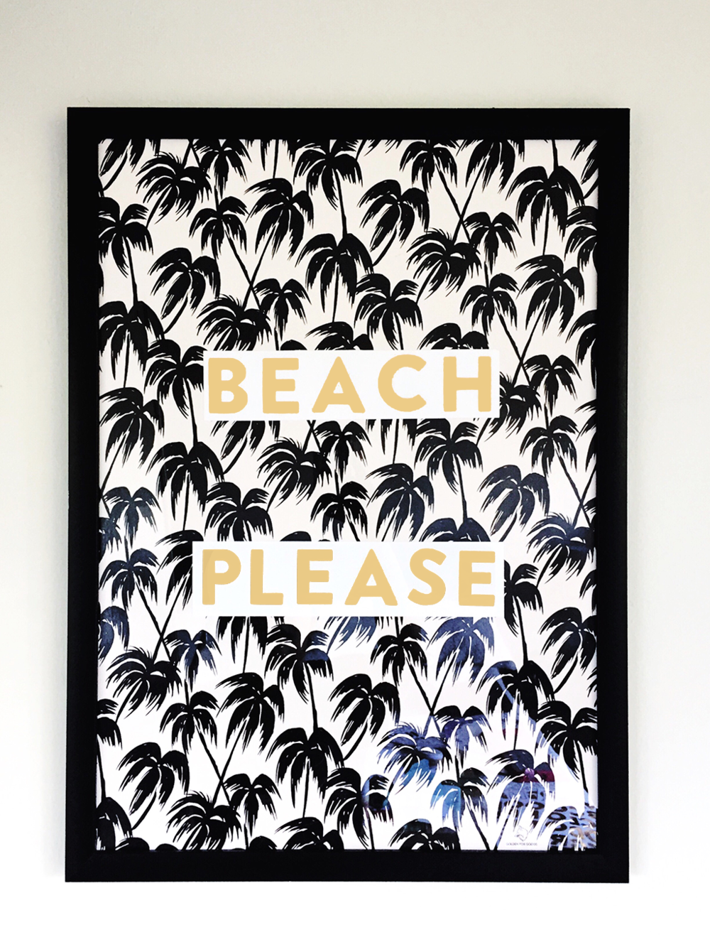 make your own diy summertime wall art - beach please