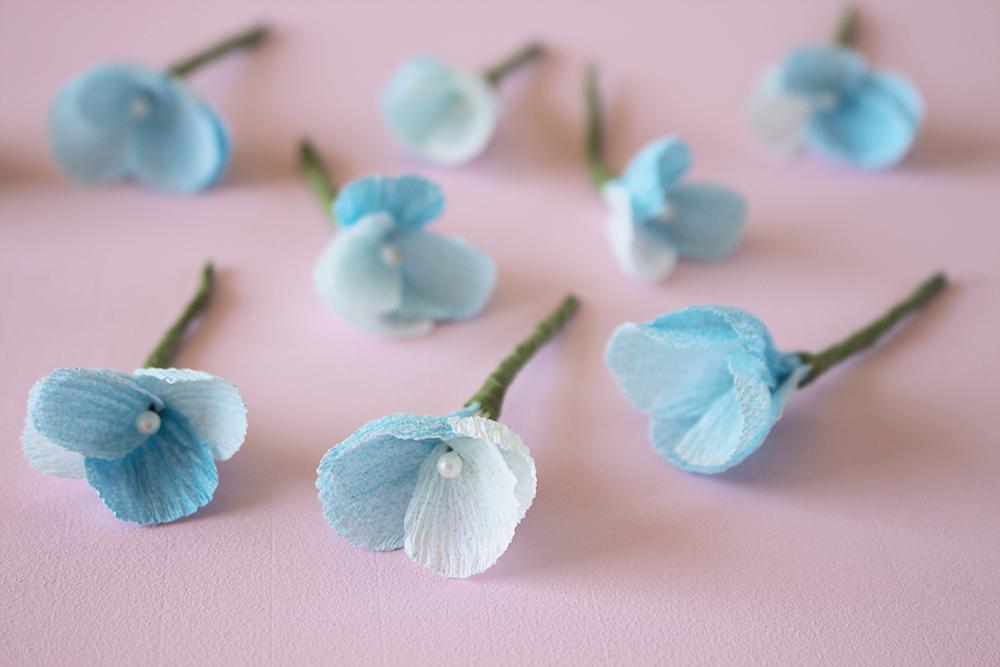 DIY Crepe Paper Floral Napkin Rings - Fresh Cut Crepe