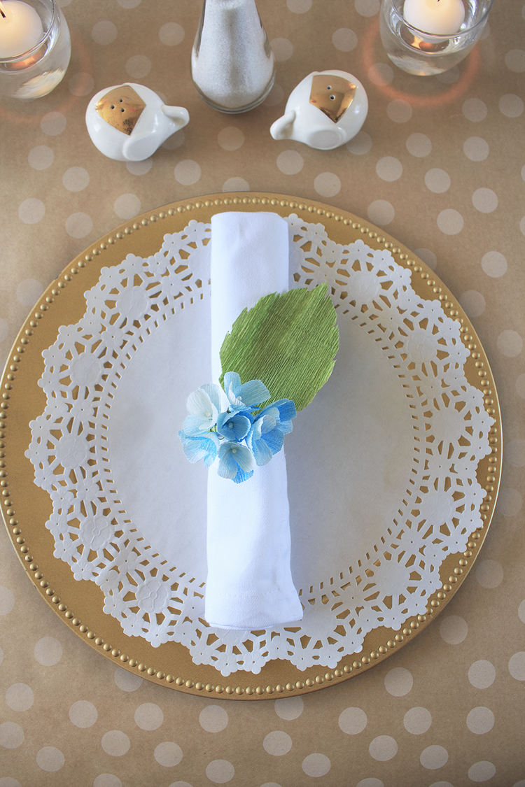 Diy Crepe Paper Floral Napkin Rings A Charming Project