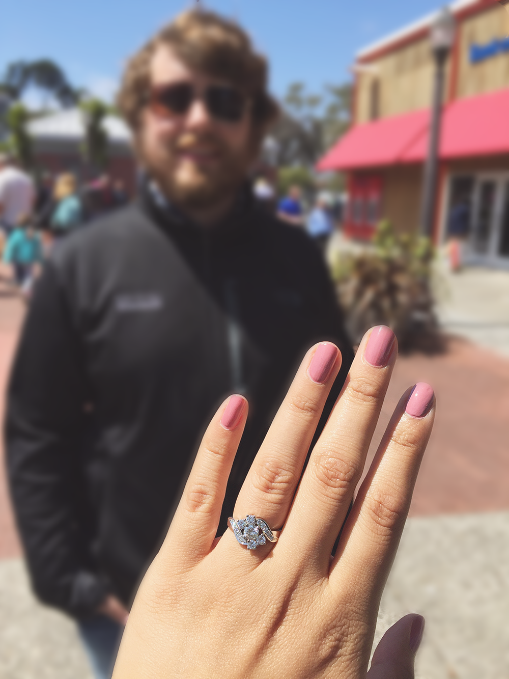 my engagement ring from Sausalito Jewelers