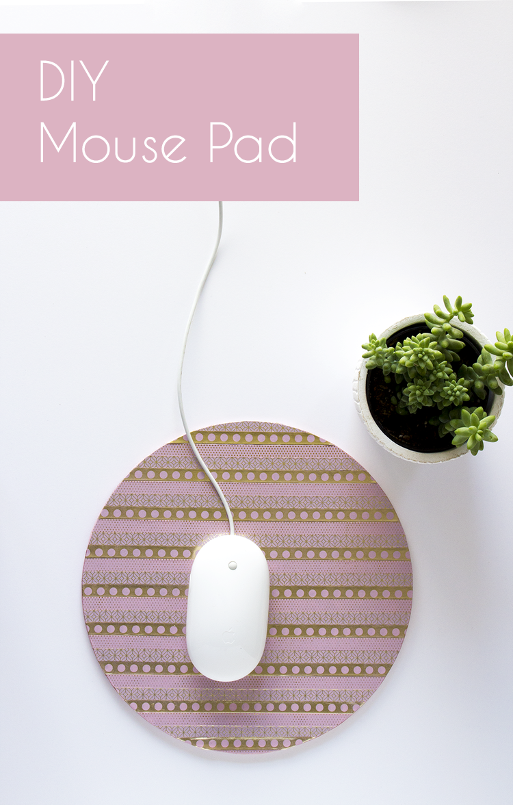 Back to School Washi Tape Project: DIY Mousepad