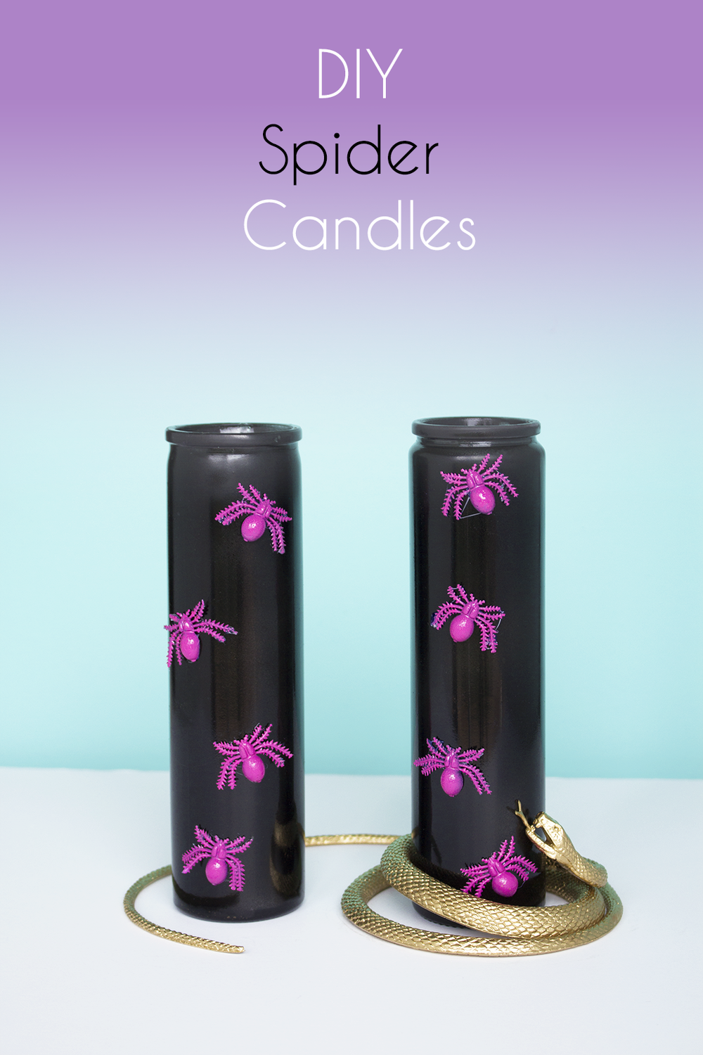 DIY Halloween Project - Spider Candles