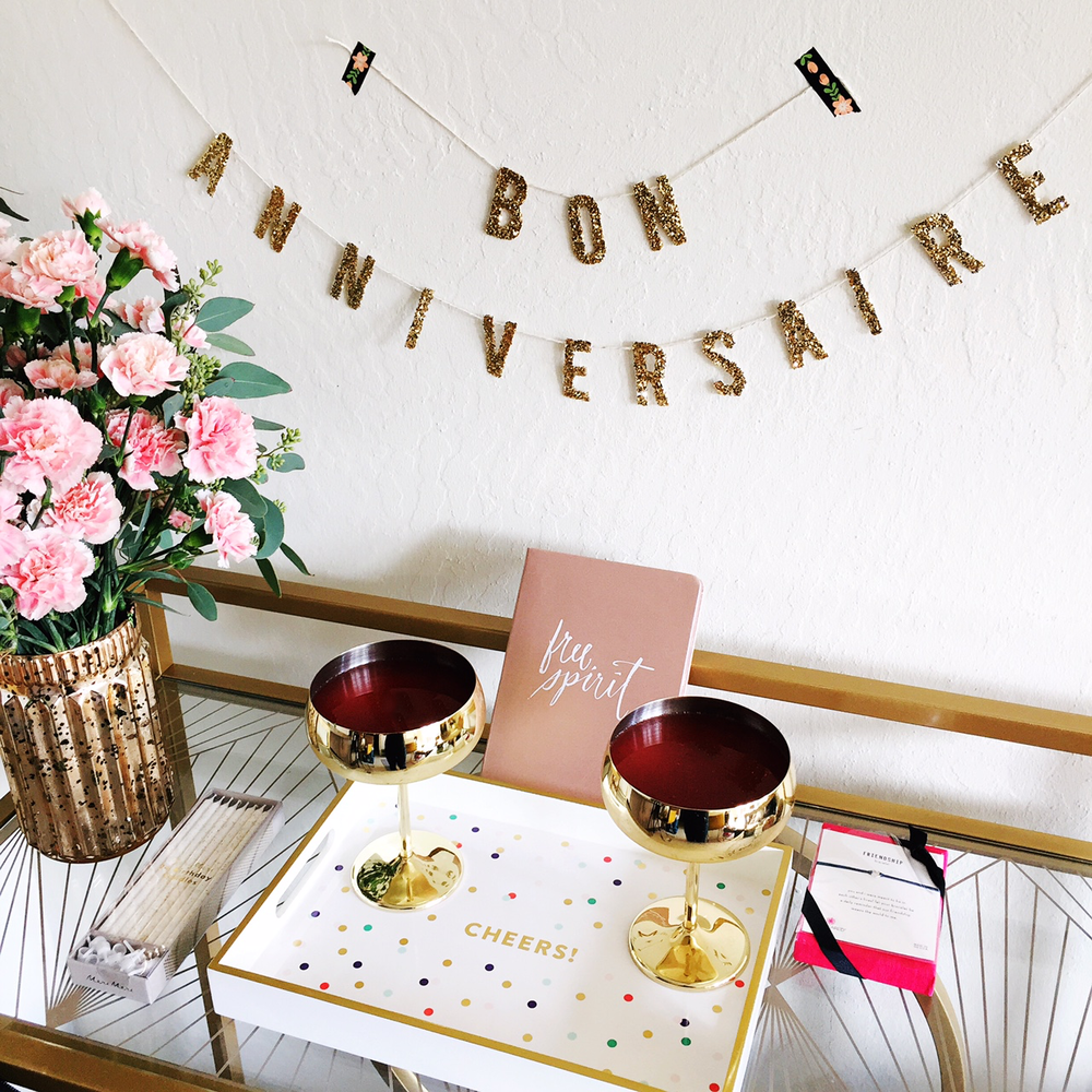 DIY Glitter Celebration Sign - Celebrating PopSugar's Must Have Box turning 5!