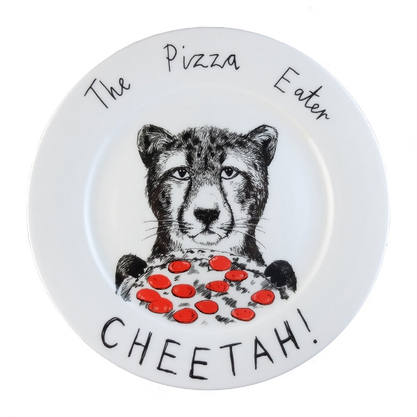 The Pizza Eater Cheetah' Side Plate