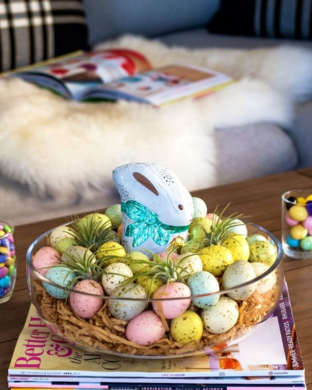 On the blog today, Easter decor in 5 minutes or less. Air plants never looks so at home! . . . . . . . . .#easterdecor #abmlifeiscolorful #abmcrafty #crafternoon #targetstyle #target #eastereggs#diyhomedecor #airplants #indoorplants #indoorgarden #plantsofinstagram #urbanjungleblogger #urbanjungle