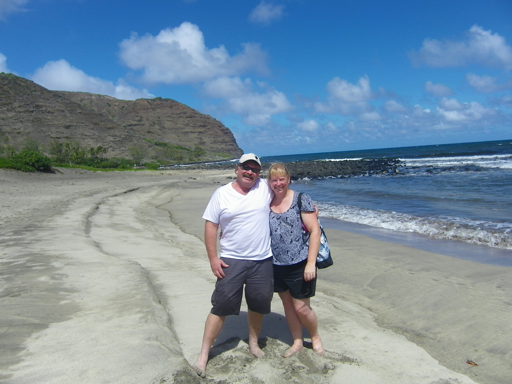 Jim & Linda at Kawili Beach on Molokai - on our 25th Anniversary :)
