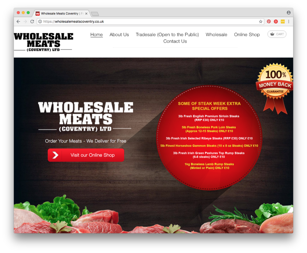 Bron:  Wholesale Meats Coventry