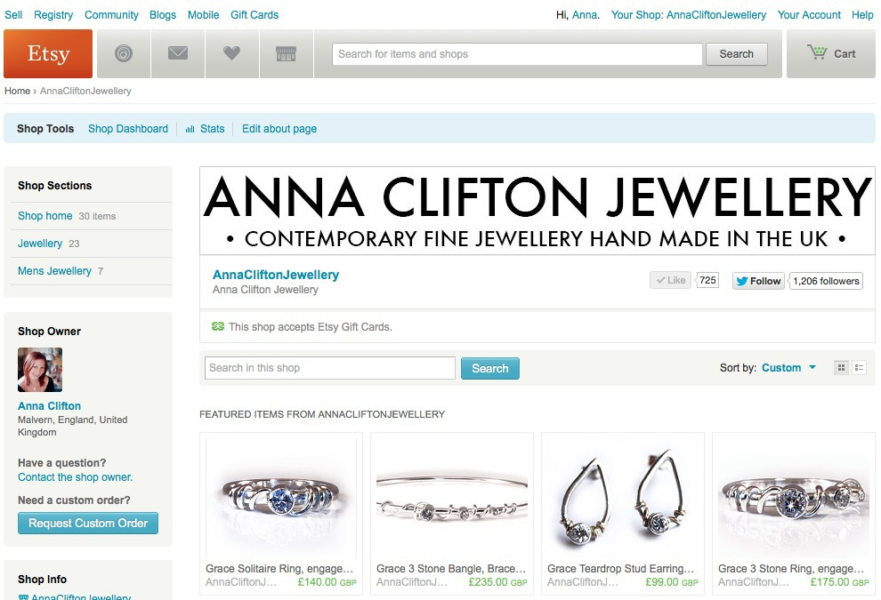 Anna Clifton on Etsy