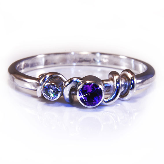 Amethyst Grace Engagement Ring