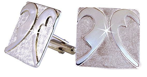 Bespoke 9ct Natural White Gold Cufflinks