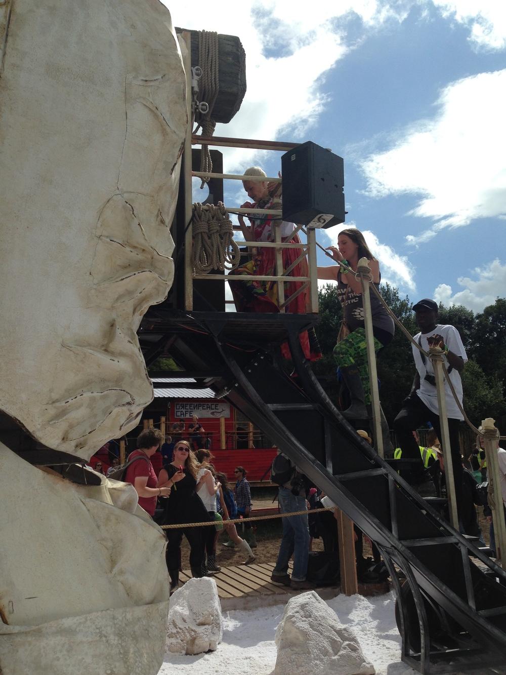 Vivienne Westwood going inside Aurora!