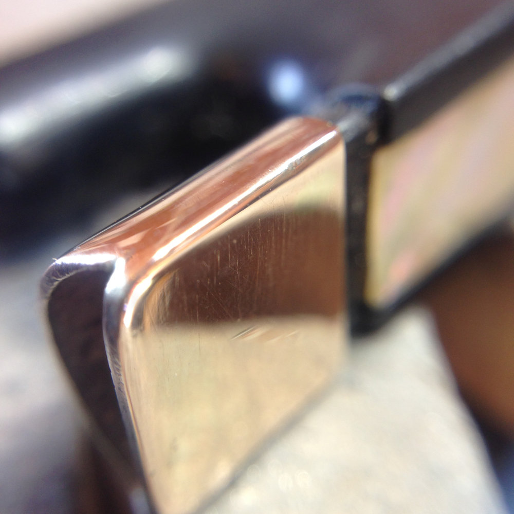 Close up pic of the finished repair on the James Tubbs bow.