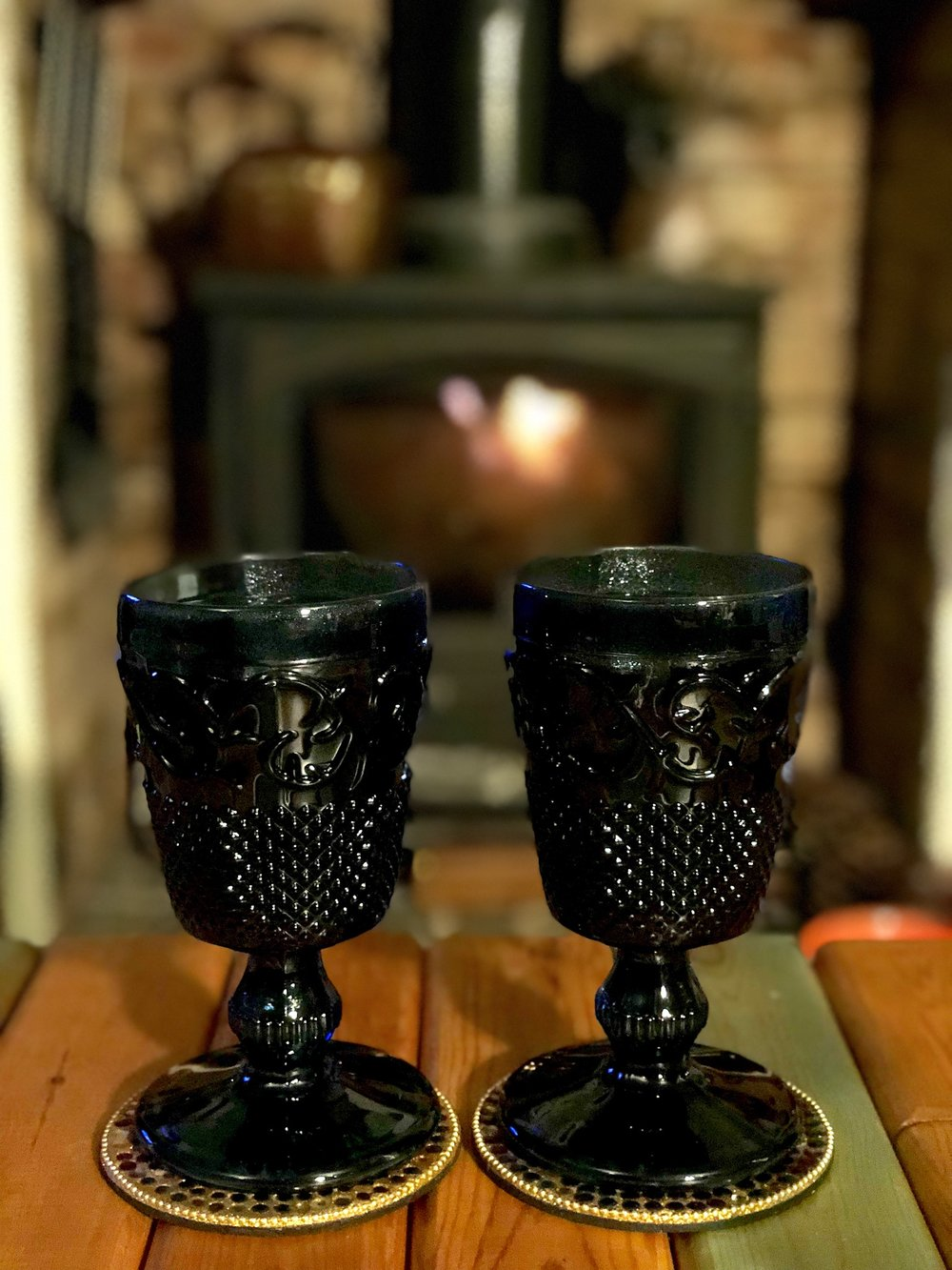 Lovely Christmas goblets bought by my Mum and Dad. Perfect gift for mulled wine!