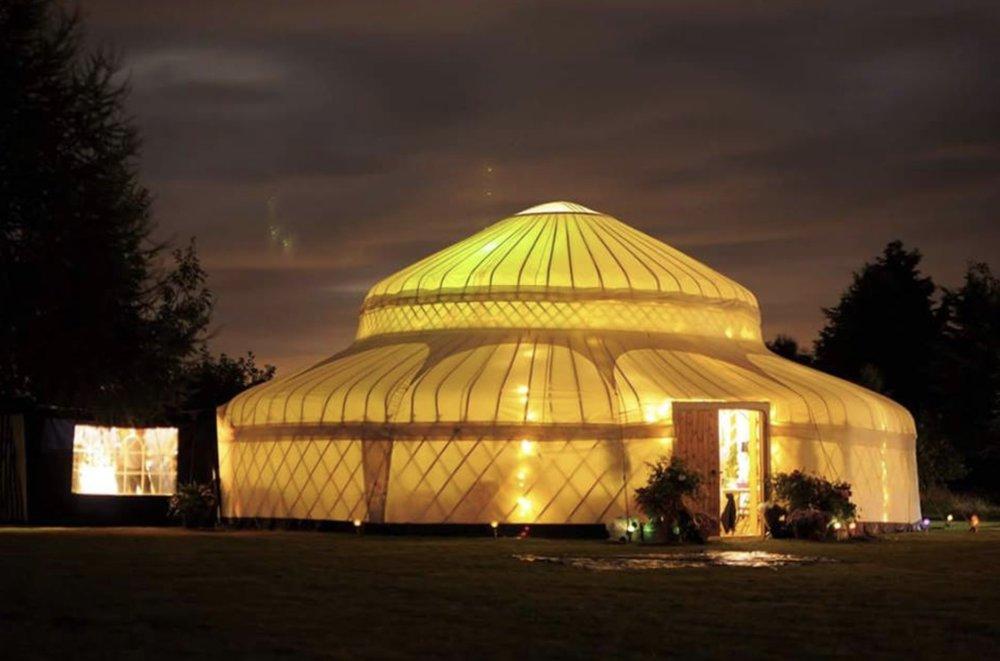 Photo from Cheltenham Yurt Hire's website