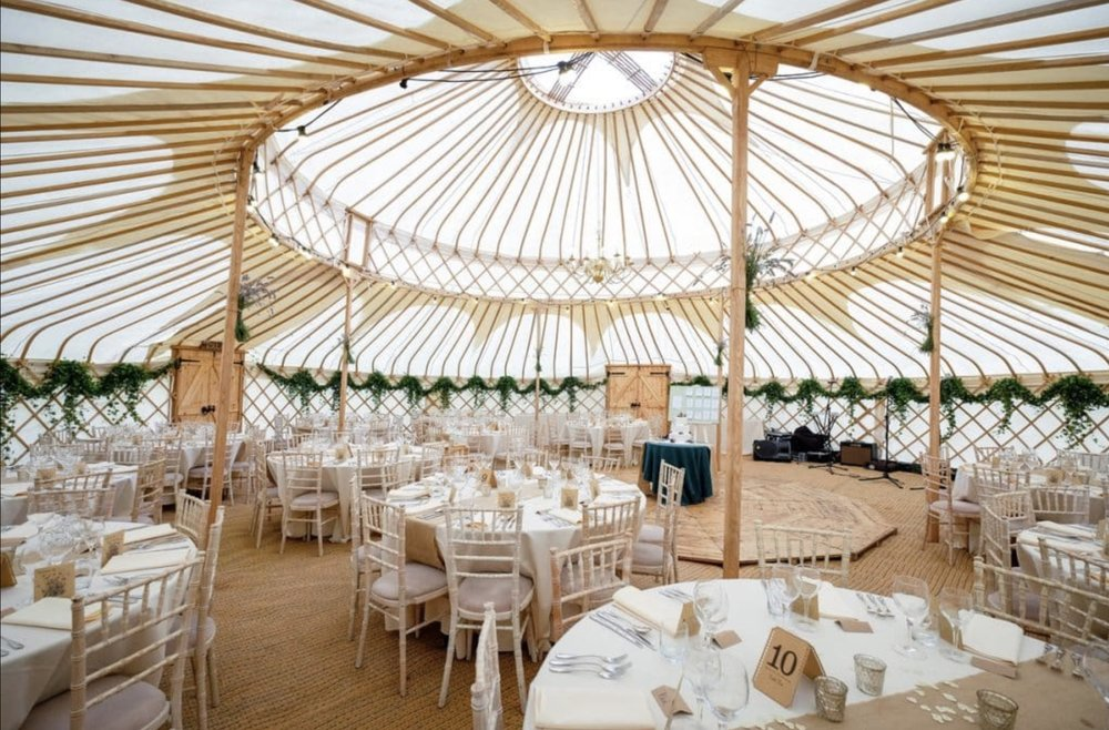 Photo from Cheltenham Yurt Hire's website
