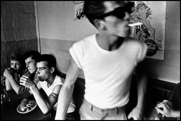 A young Bruce Davidson read about gangs in Brooklyn New York in the 1950's and set about becoming observer and documenter of the is period of time often depicted as passive and supposedly innocent. Following the lives of a teenage gang calling themselves The Jokers, he showed a different perspective.