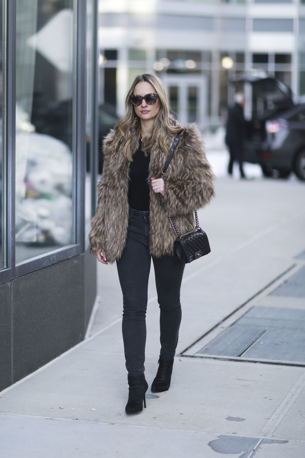 LOvers + Friends Faux Fur jacket