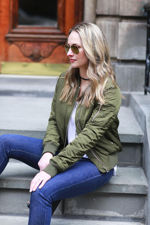 Bomber jacket, j brand jeans