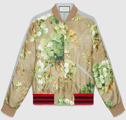 5517402e144 the inspiration: gucci floral bomber jacket $2,530 VS. zara $69.90