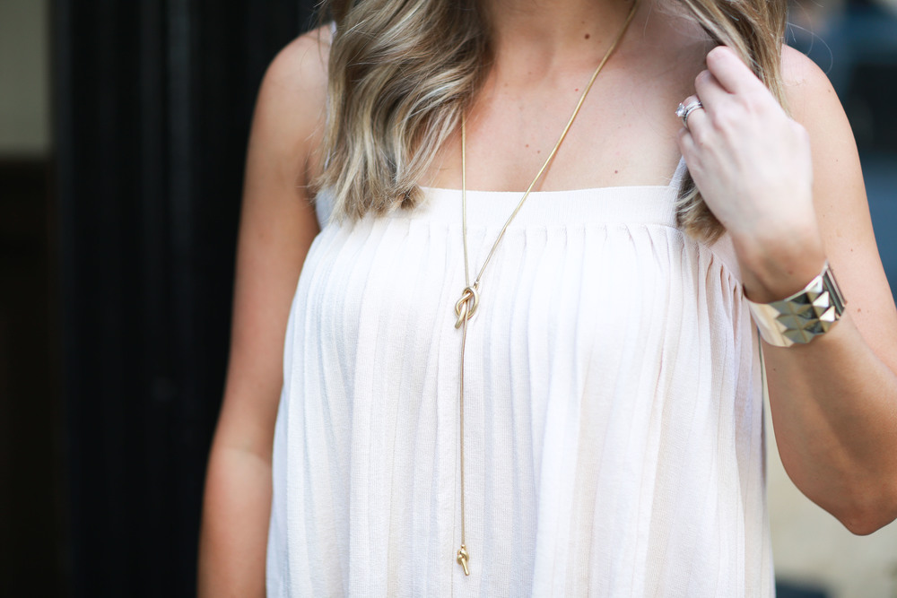 madewell knot necklace
