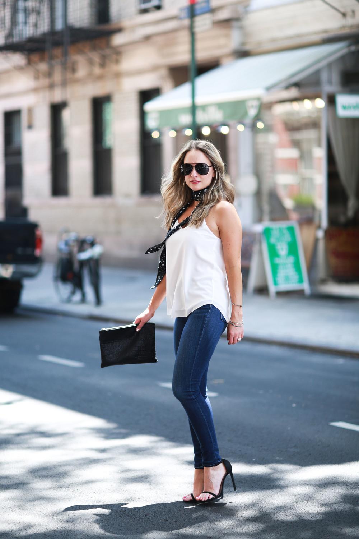 equipment scarf, j brand jeans, stuart weitzman nudist