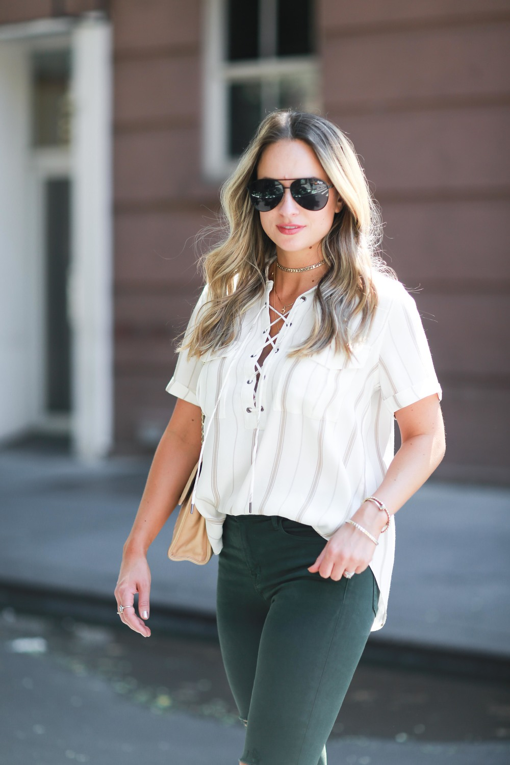 lace up summer blouse