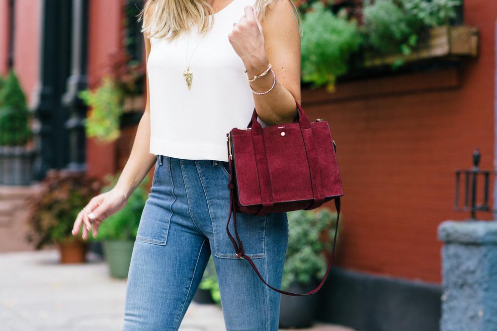 Theory Burgundy Handbag