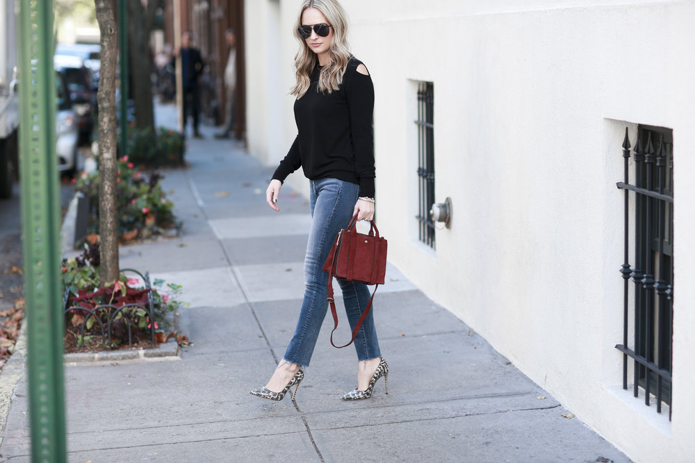 casual outfit with lna sweater