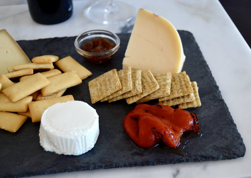 diverse cheese plate