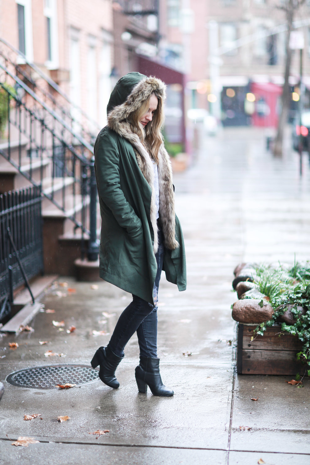warm stylish winter outfit