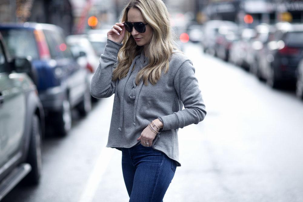 lace up sweatshirt