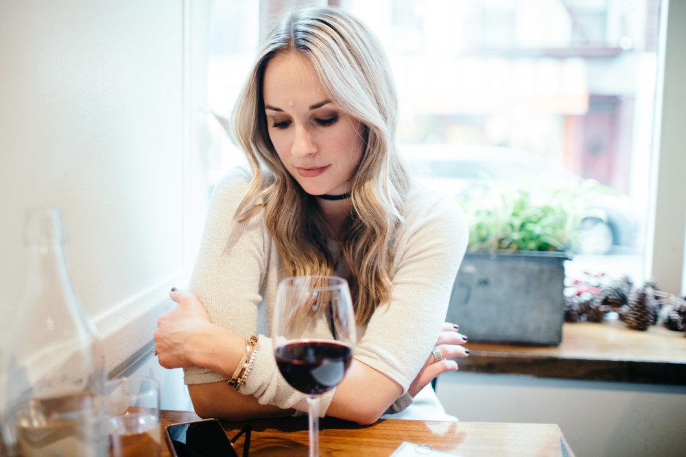 wine at balboosta in soho nyc
