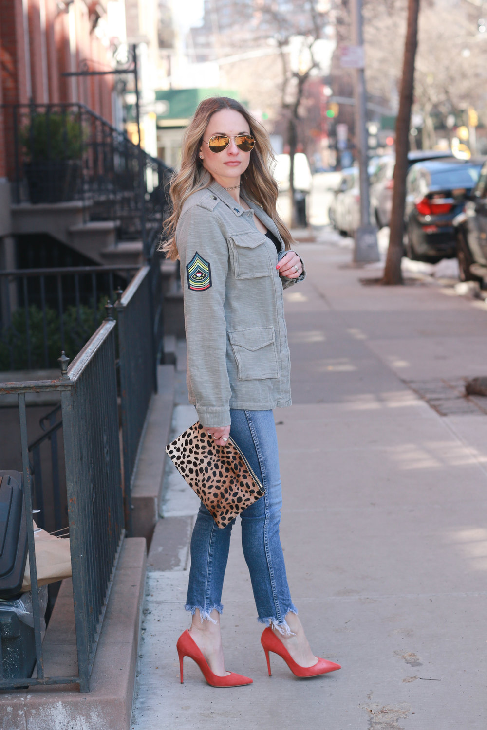military jacket with patches