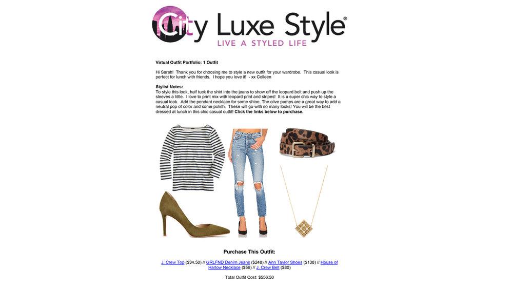 Example Outfit Portfolio -