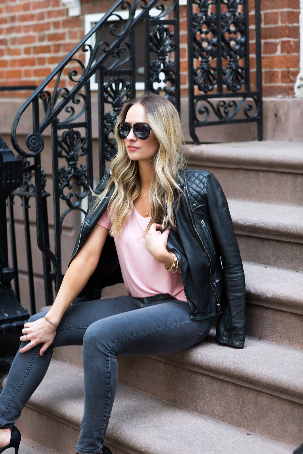 All saints leather moto jacket