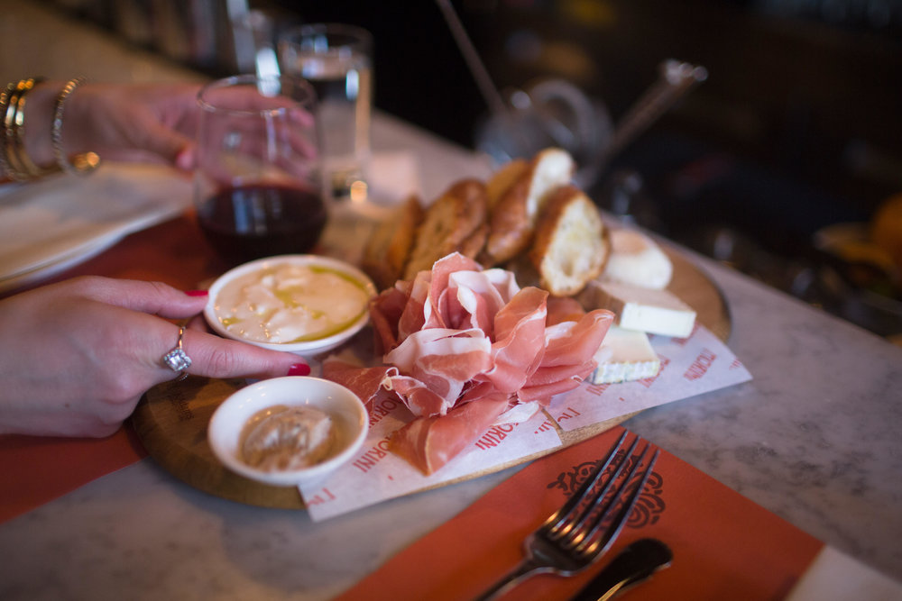 cheese plate at osteria morini