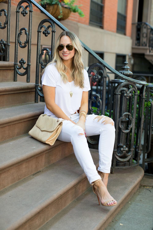white x white outfit