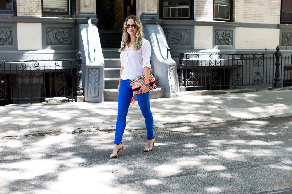 royal blue j brand jeans