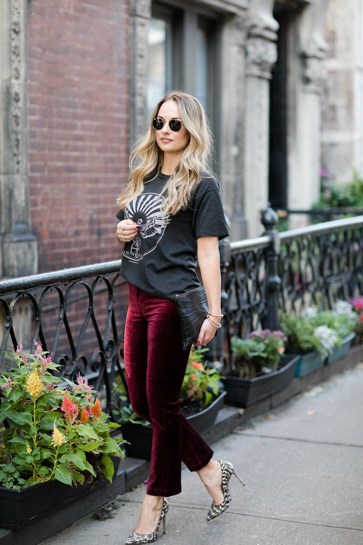 velvet crop pants