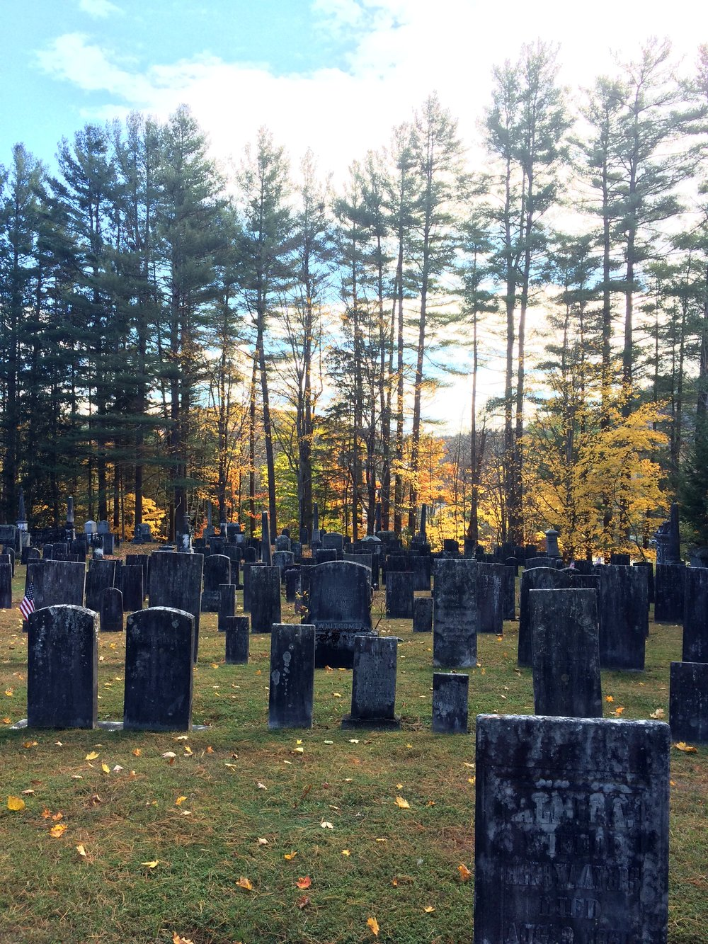 The graveyard in Grafton, Vermont