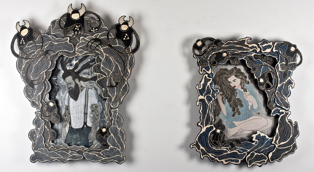 'Too old to die young' & 'You were born inside my heart' (more information) check availability of these artworks here