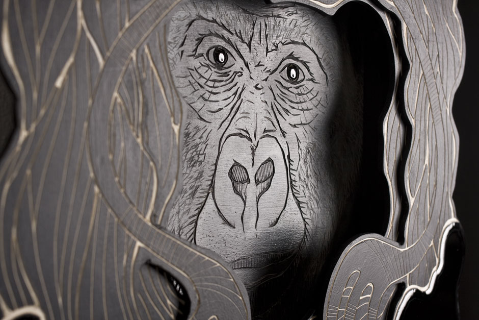 Detail from: Animal Inside (Masked Hero #01: Gorilla) | © Alex Diamond