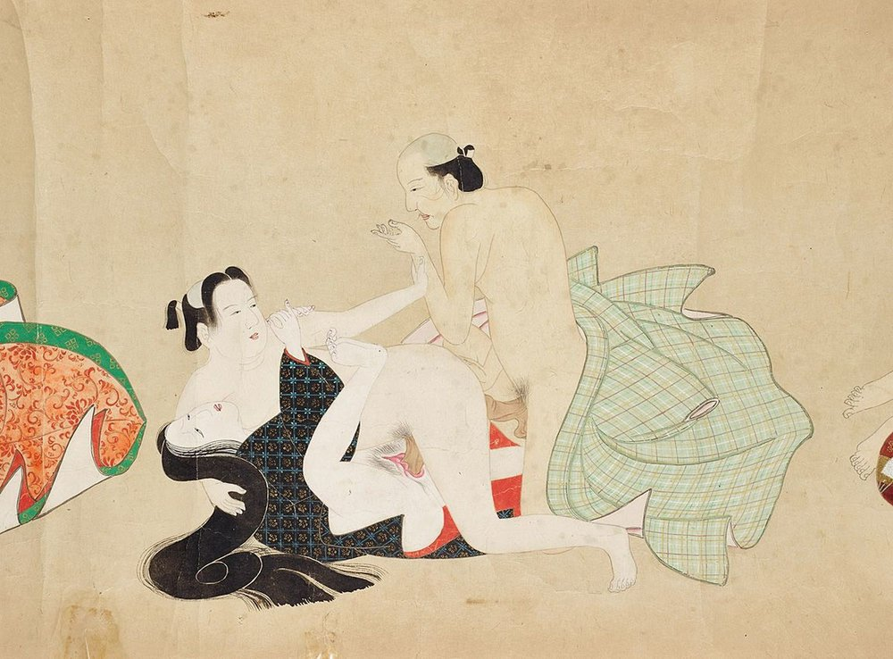Shunga by an unknown artist, © MAK / Georg Mayer