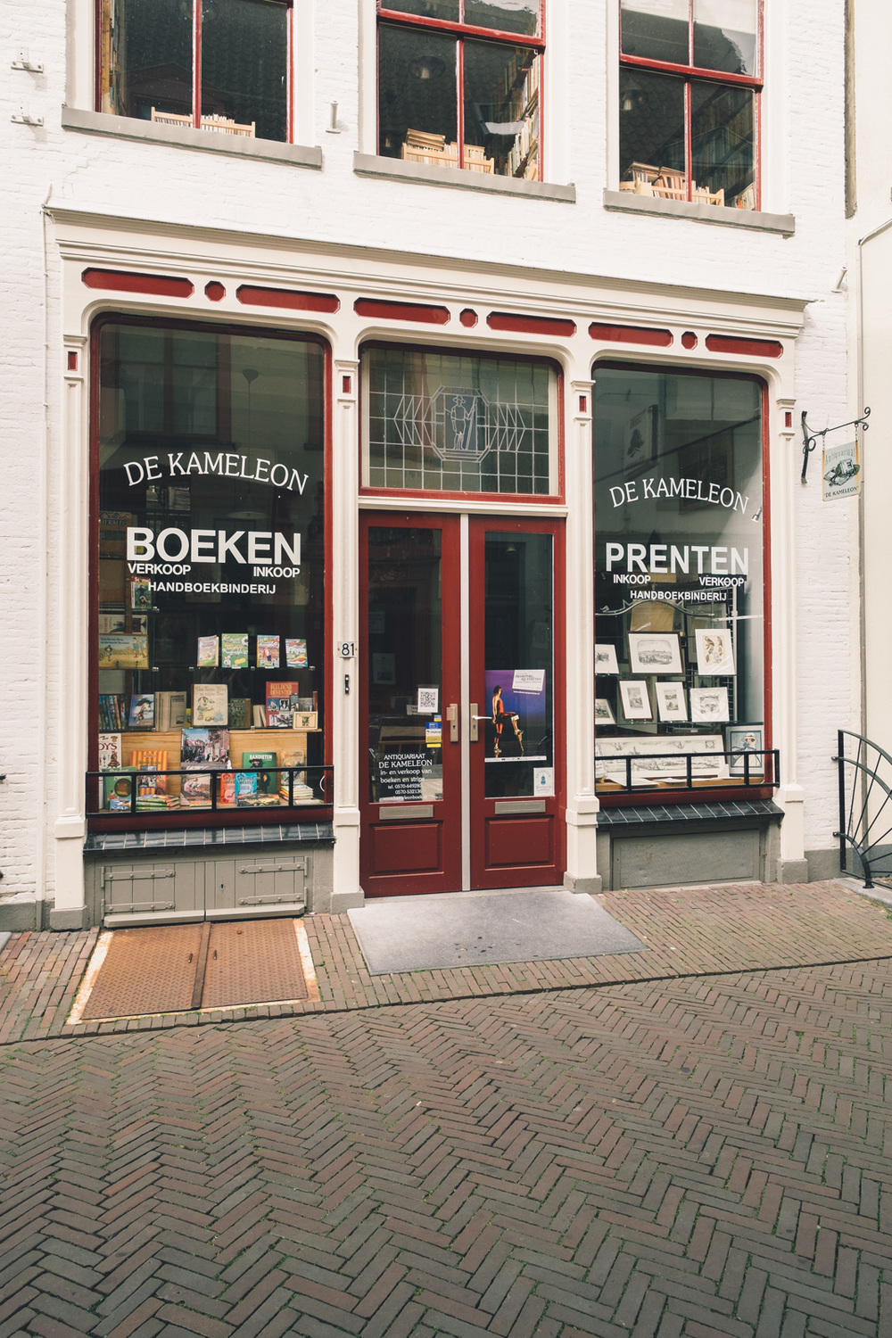 Antiquarian bookstore in Deventer with the bookstore girl