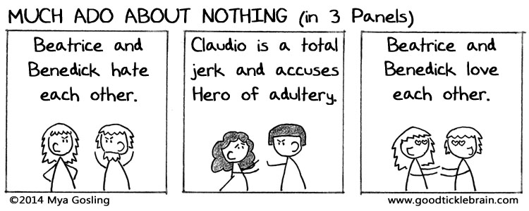 the importance of the villains in shakespeares much ado about nothing and othello In much ado about nothing, othello, and cymbeline, by contrast, hero, desdemona, and innogen are presented not only as their (soldier) fiancés' social.